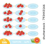 counting game for preschool... | Shutterstock .eps vector #793443166