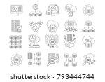 big data icons vol2 | Shutterstock .eps vector #793444744
