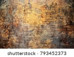 Stock photo rusty metallic steel plate 793452373