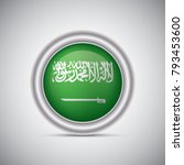 saudi arabia flag button style. ... | Shutterstock .eps vector #793453600
