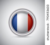 france flag button style.... | Shutterstock .eps vector #793453603