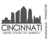 cincinnati ohio usa skyline... | Shutterstock .eps vector #793453750