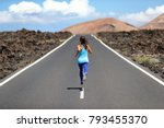 running athlete woman runner... | Shutterstock . vector #793455370