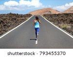 running athlete woman runner... | Shutterstock . vector #793455370