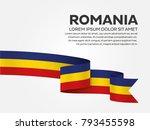romania flag background | Shutterstock .eps vector #793455598