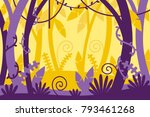 jungle background. tropical.... | Shutterstock .eps vector #793461268