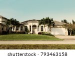 typical southwest florida... | Shutterstock . vector #793463158