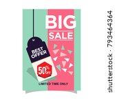 big sale poster discount vector   Shutterstock .eps vector #793464364