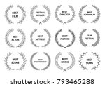 film awards set of black and