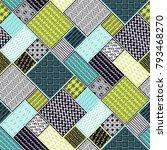 seamless pattern  patchwork... | Shutterstock .eps vector #793468270