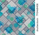 seamless pattern  patchwork... | Shutterstock .eps vector #793468408