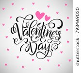 happy valentines day card ... | Shutterstock . vector #793469020