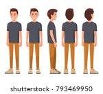vector illustration of smiling... | Shutterstock .eps vector #793469950