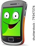 smart phone character.  the... | Shutterstock .eps vector #79347376