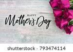 happy mother's day typography... | Shutterstock . vector #793474114