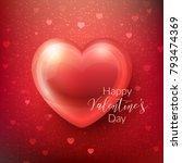 happy valentines day greeting... | Shutterstock .eps vector #793474369