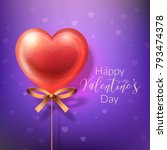 happy valentines day greeting... | Shutterstock .eps vector #793474378