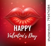 happy valentines day greeting... | Shutterstock .eps vector #793474384