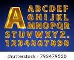 font golden symbol  gold letter ... | Shutterstock .eps vector #793479520