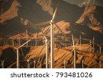 mountains based renewable... | Shutterstock . vector #793481026