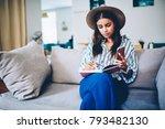 stylish skilled designer draw... | Shutterstock . vector #793482130