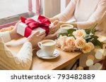 close up of young man giving... | Shutterstock . vector #793482889