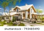 3d rendering of modern cozy... | Shutterstock . vector #793485490
