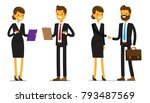 set of business man and... | Shutterstock .eps vector #793487569
