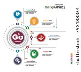 infographics business template... | Shutterstock .eps vector #793488364