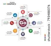 infographics business template... | Shutterstock .eps vector #793488376