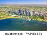 aerial view of perth skyline in ...   Shutterstock . vector #793488598