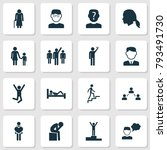 human icons set with family ... | Shutterstock .eps vector #793491730