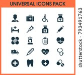 drug icons set with drug ... | Shutterstock .eps vector #793491763