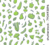 seamless pattern with... | Shutterstock .eps vector #793493896