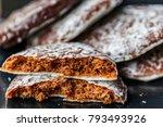 round lebkuchen  german... | Shutterstock . vector #793493926