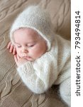 beatiful baby boy in white... | Shutterstock . vector #793494814