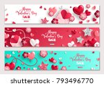 happy valentine's day... | Shutterstock .eps vector #793496770
