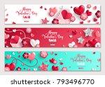 happy valentine's day... | Shutterstock .eps vector #793496770