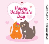 valentine's day card with...   Shutterstock .eps vector #793496893