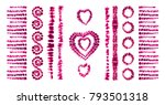 red heart tie dye. valentines... | Shutterstock .eps vector #793501318
