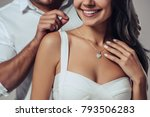 Beautiful romantic couple in...