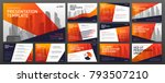 business presentation templates ... | Shutterstock .eps vector #793507210