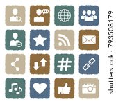 social media icons. grunge...