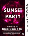 party poster vector background... | Shutterstock .eps vector #793508854