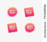 hot deal   hot price 50  off... | Shutterstock .eps vector #793508986