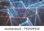 3d illustration  abstract... | Shutterstock . vector #793509910
