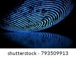3d illustration. 3d holographic ... | Shutterstock . vector #793509913