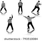 high detailed ice hockey... | Shutterstock .eps vector #793510084