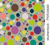 Happy Random Circles In Colors