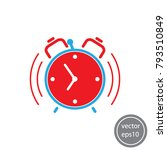 alarm clock icon vector | Shutterstock .eps vector #793510849